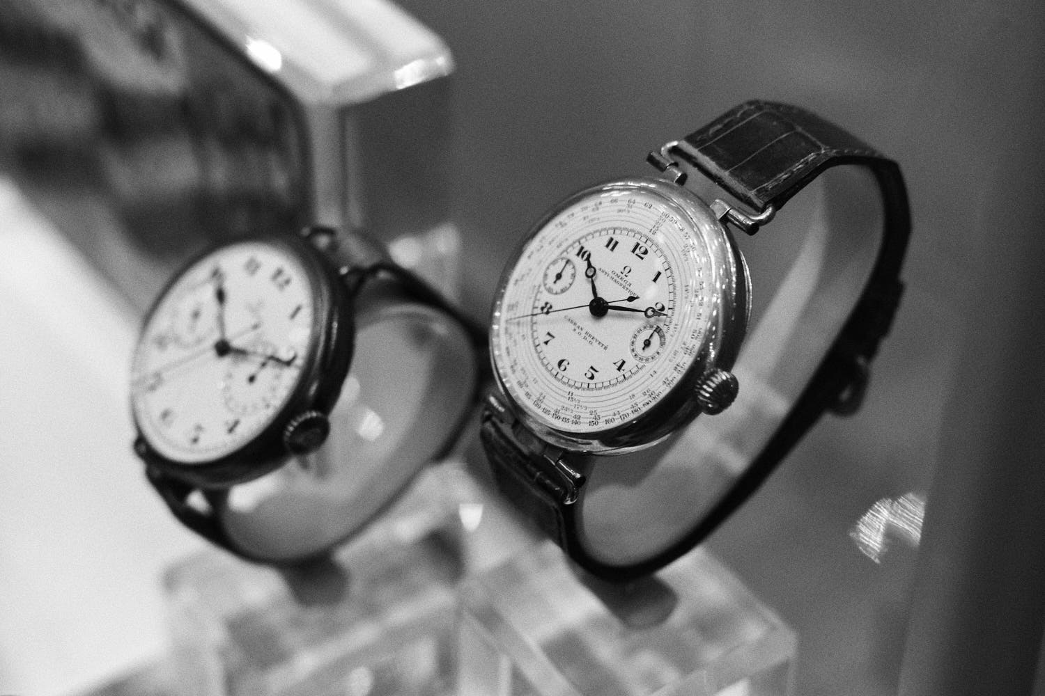 Early-wristchronos-Omega-Museum-Visit-Monochrome-Watches