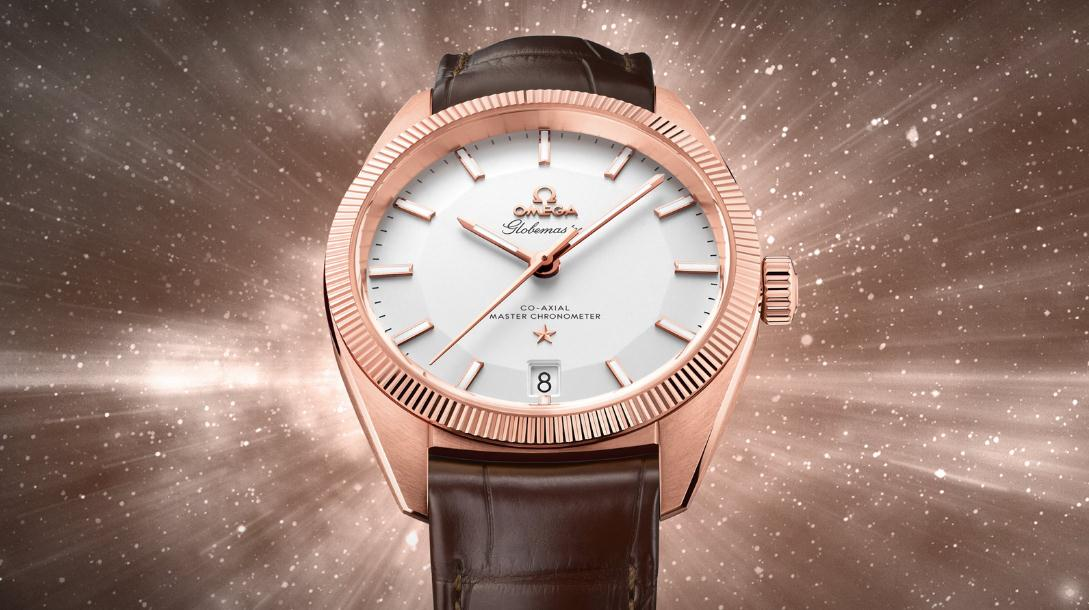 The silvery dials fake watches have brown leather straps.