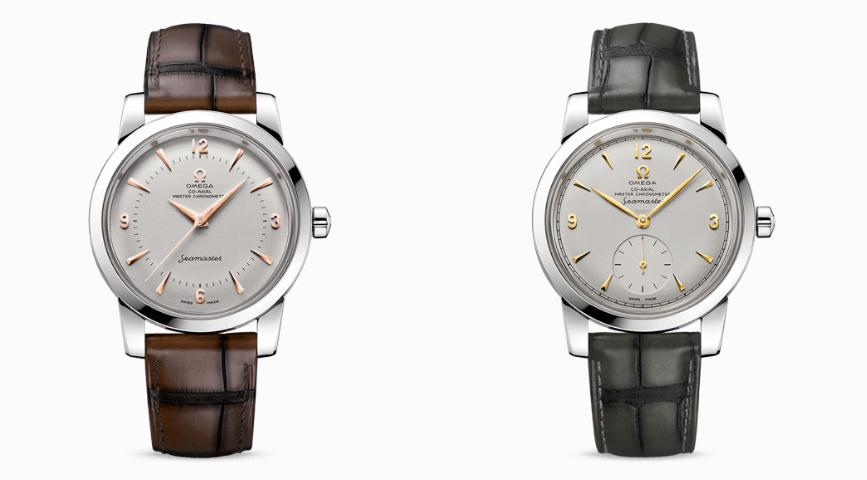 The platinum replica watches have white dials.