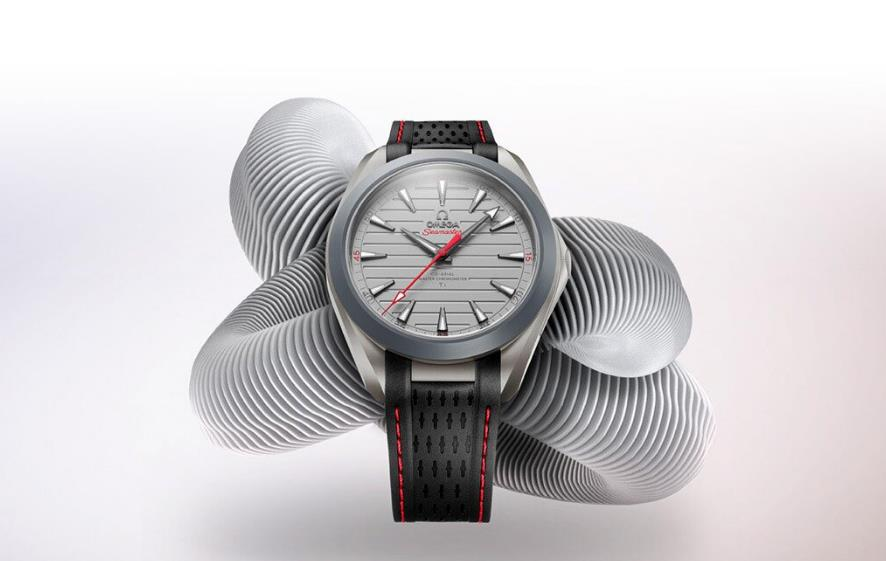 The 41 mm replica watches are made from titanium.