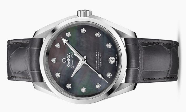 The 38.5 mm copy watches are decorated with diamonds.