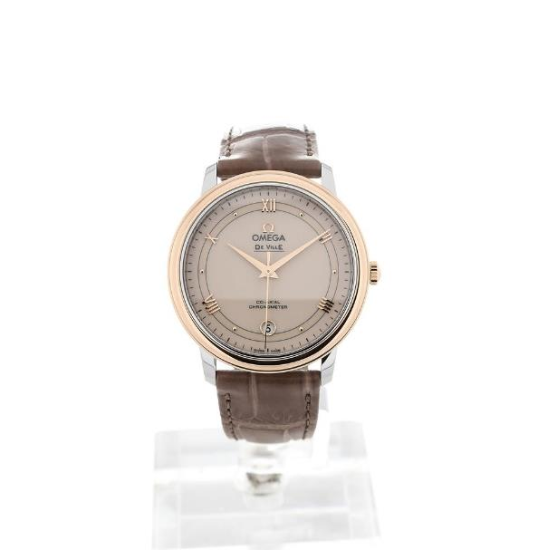 The female copy watches have brown leather straps.