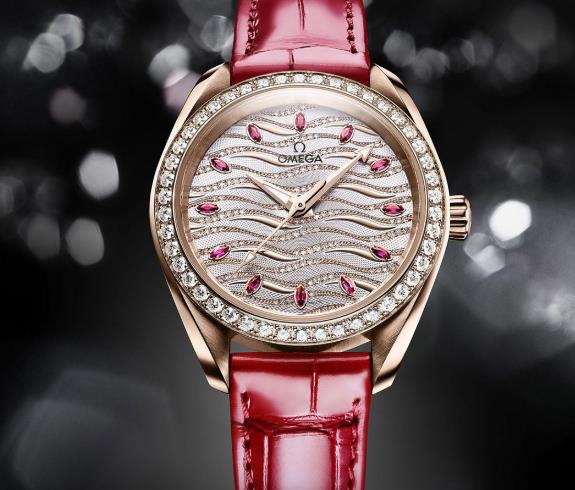 The female fake watches are decorated with diamonds.